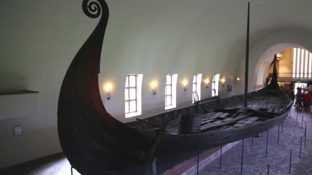 oslo, bygdoy, viking ship, oseberg 9th century burial ship - ancient stock videos & royalty-free footage