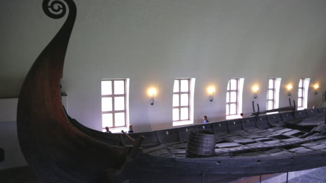 oslo, bygdoy, viking ship, oseberg 9th century burial ship - viking stock videos and b-roll footage