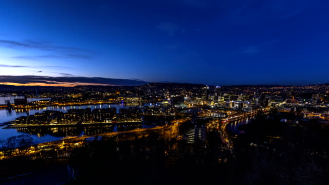 Oslo city by night (Norway 2017)