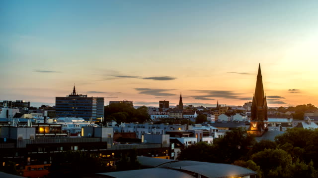 Oslo Cityscape Sunset Time Lapse