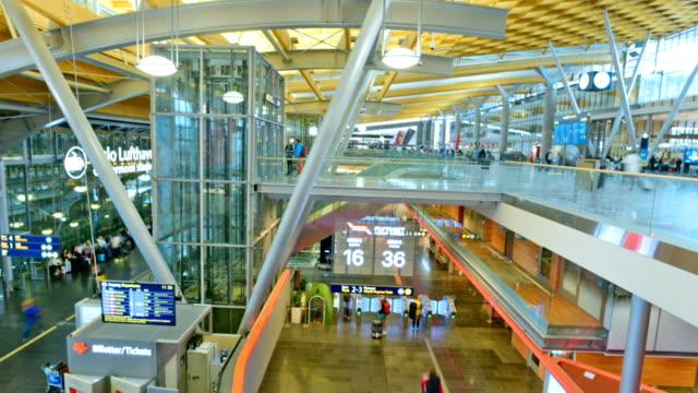oslo gardermoen international airport in oslo. - getting on stock videos & royalty-free footage