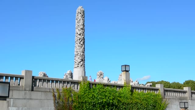 oslo norway vigeland installaation - sculpture stock videos & royalty-free footage