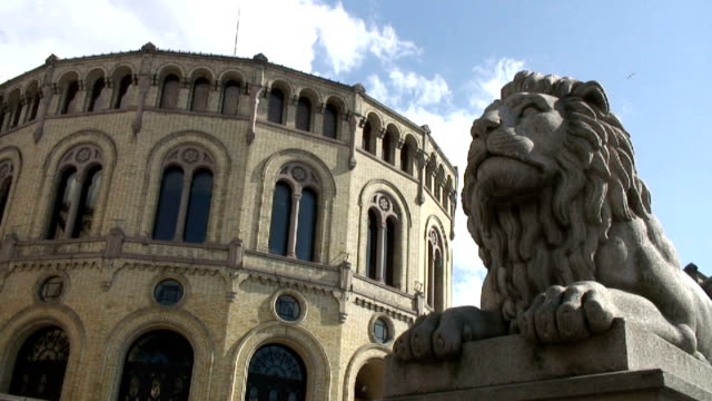 oslo parlament. - parliament building stock videos & royalty-free footage