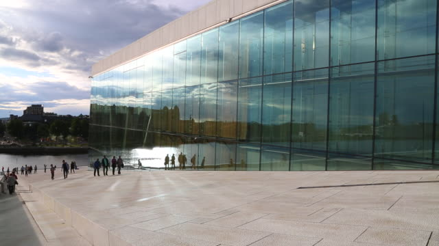 Oslo,  the Norwegian national opera and ballet building