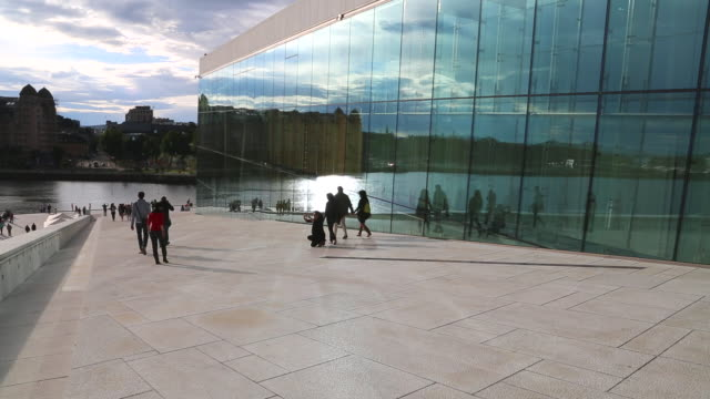 oslo,  the norwegian national opera and ballet building - traditionally norwegian stock videos & royalty-free footage