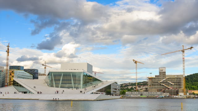 Oslo, view of the Norwegian national opera and ballet building