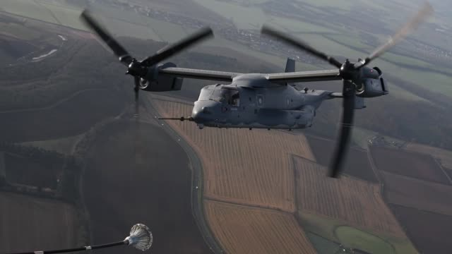 Osprey flyover to mark the Mi Amigo 75th Anniversay over Sheffield England on 22 February 2019