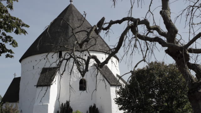 ms osterlars round church / bornholm, denmark - circa 13th century stock videos and b-roll footage