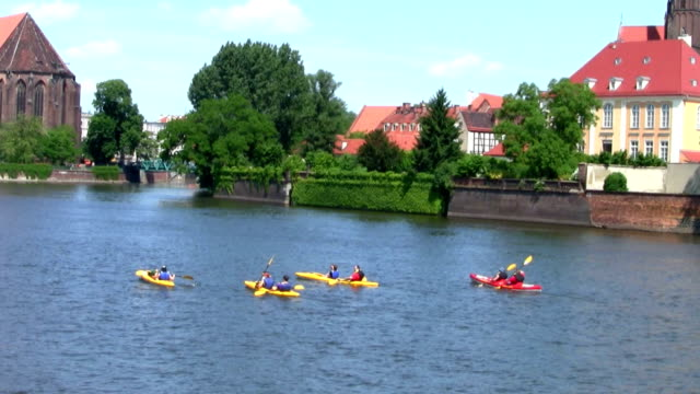 Ostrow Tumski by Odra river in Wroclaw, Poland