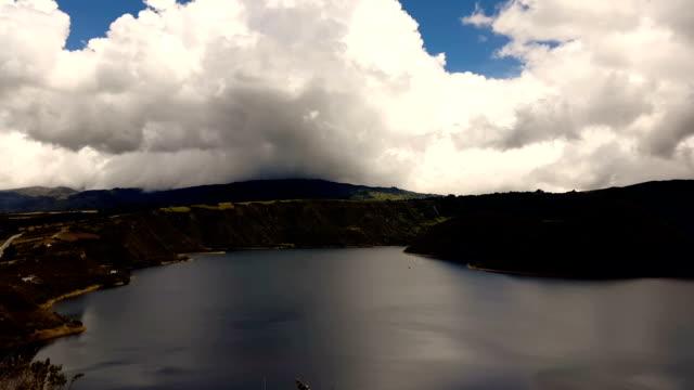 otavalo lagoon - pan greek god stock videos & royalty-free footage