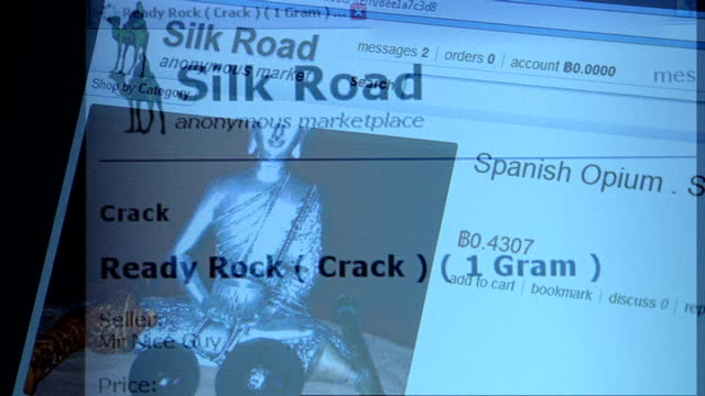 Other illegal drug websites replace Silk Road Close shots 'Silk Road' website with illegal drugs advertised on screen