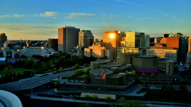 ottawa, canada sunrise time lapse - ottawa stock videos and b-roll footage