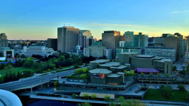 ottawa, canada sunset time lapse - ottawa stock videos & royalty-free footage