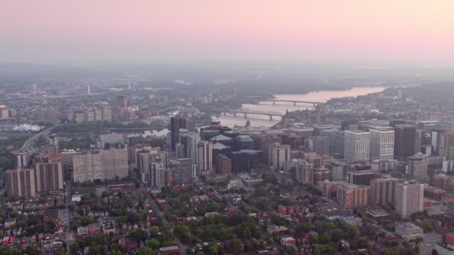 aerial ottawa i morgonljuset - ottawa bildbanksvideor och videomaterial från bakom kulisserna