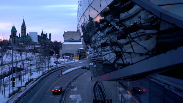 ottawa street background is the canadian parliament - tower stock videos & royalty-free footage