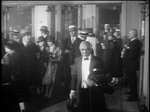 stockvideo's en b-roll-footage met otto kahn at opening night of glorifying the american girl in nyc / newsreel - 1927