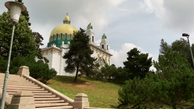 otto wagner church vienna - real time stock videos & royalty-free footage