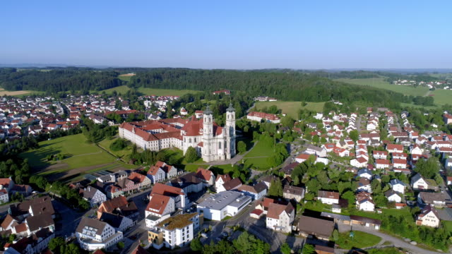 ottobeuren abbey in bavaria - romantic road germany stock videos and b-roll footage