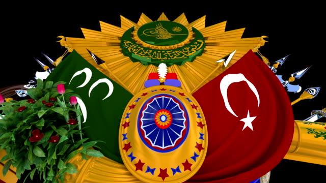 vídeos y material grabado en eventos de stock de otomana escudo de armas - camisola