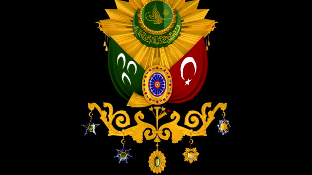 ottoman coat of arms - camisole stock videos & royalty-free footage