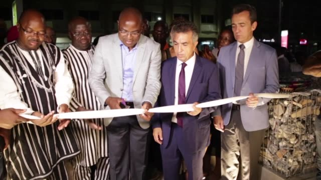Ouagadougou's Cappuccino cafe restaurant site of a jihadist attack in January 2016 which left 30 people dead holds its official reopening ceremony