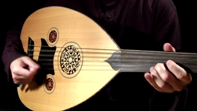 oud closeup - musical instrument stock videos & royalty-free footage