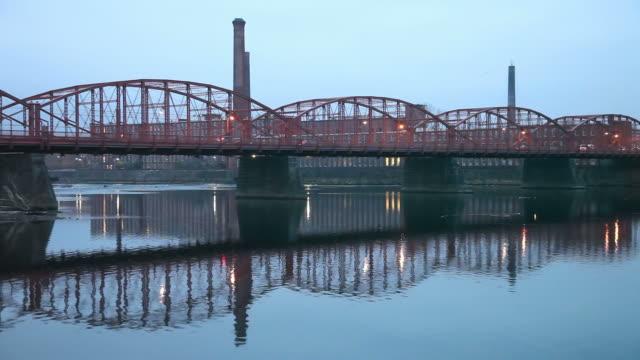 ouellette bridge in lowell - lowell stock videos & royalty-free footage