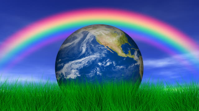 our earth & rainbow - rainbow stock videos & royalty-free footage