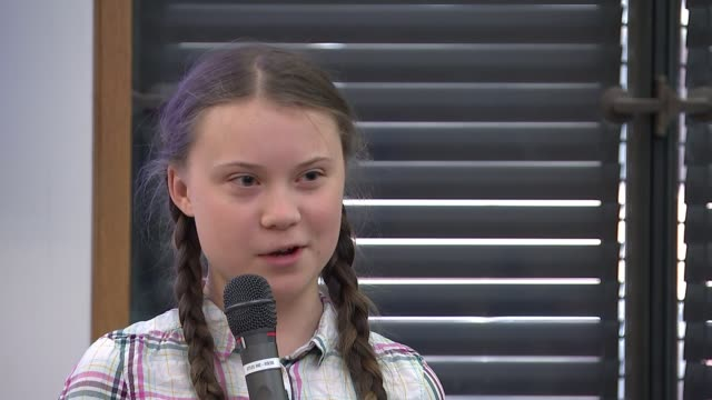 'our future has been sold,' says teenage climate activist greta thunberg; england: london: parliament climate change group meeting: int greta... - speech stock videos & royalty-free footage