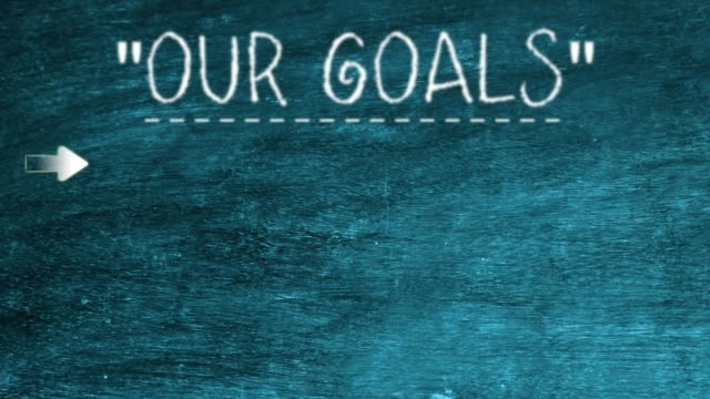 our goals over blackboard - inspiration board stock videos & royalty-free footage