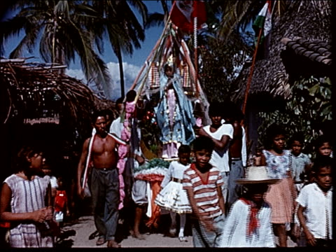 stockvideo's en b-roll-footage met 1963 our lady of guadalupe festival - 1963