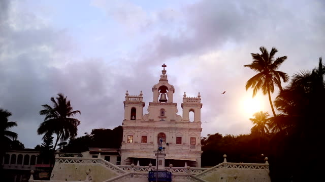 our lady of immaculate conception church in goa, india - goa stock videos & royalty-free footage
