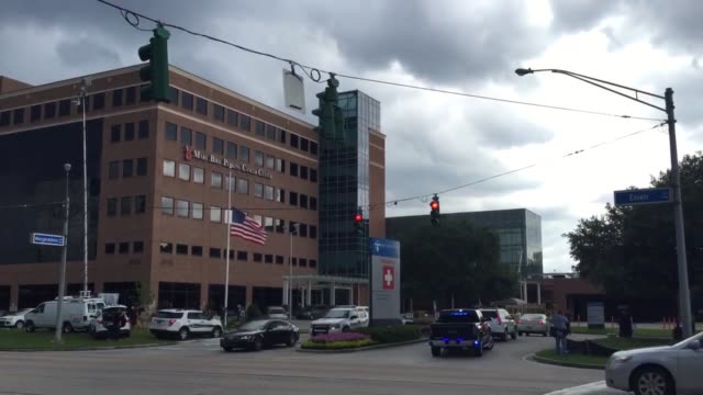 our lady of the lake hospital where 6 officers were brought after baton rouge shooting this morning - baton rouge stock-videos und b-roll-filmmaterial