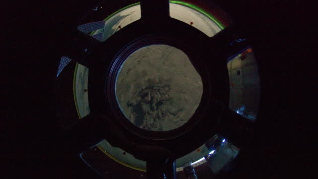our planet through the cupola - astronaut stock videos & royalty-free footage