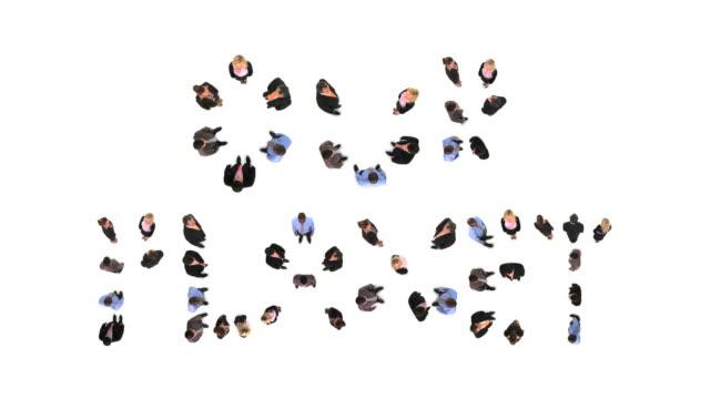 vidéos et rushes de hd : notre planète - grand groupe de personnes