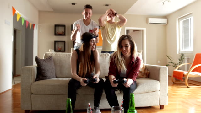 our team is winning - divano video stock e b–roll