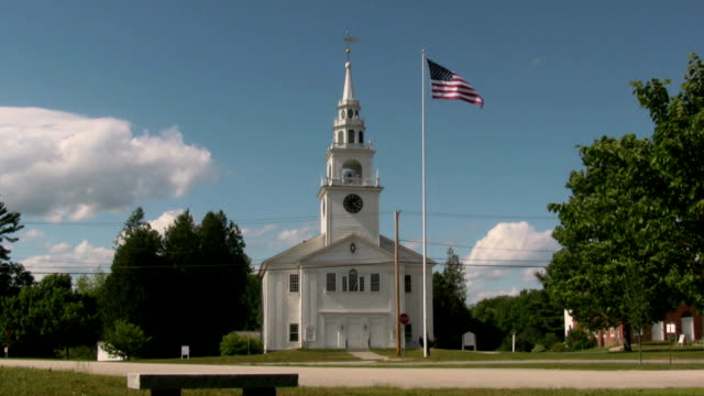 our town church - small town stock videos and b-roll footage