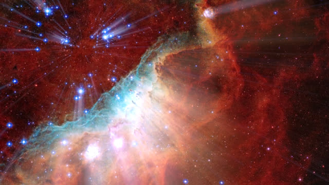 our universe seen by the hubble telescope - saturated colour stock videos & royalty-free footage