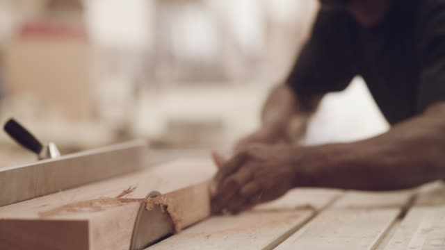 our wood is a cut above the rest - wood material stock videos & royalty-free footage