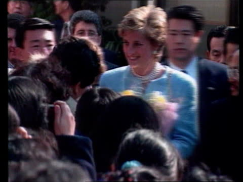 out of court settlement reached over princess of wales gym photos japan tokyo throughout ** car carrying princess of wales towards pan lr as past... - emperor of japan stock videos and b-roll footage