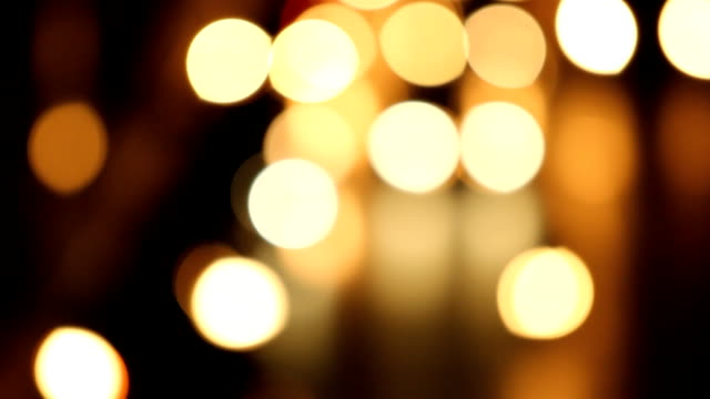 Out of focus a street at night, bokeh blur