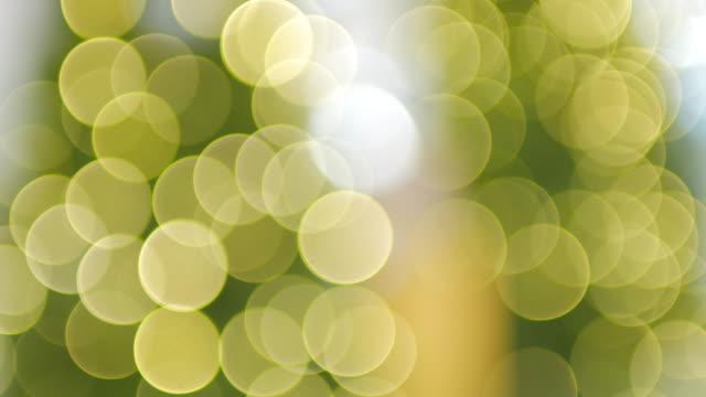Aus dem Fokus Kreis Licht Bokeh Hintergrund, gelbe Bokeh