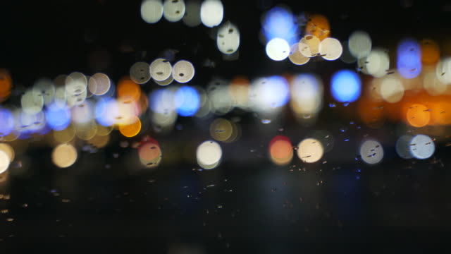 vídeos de stock, filmes e b-roll de fora da cidade luz de foco. - desfocado foco