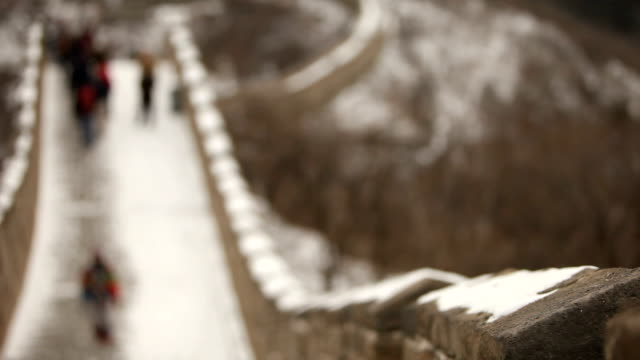 万里の長城にフォーカス観光客のうち