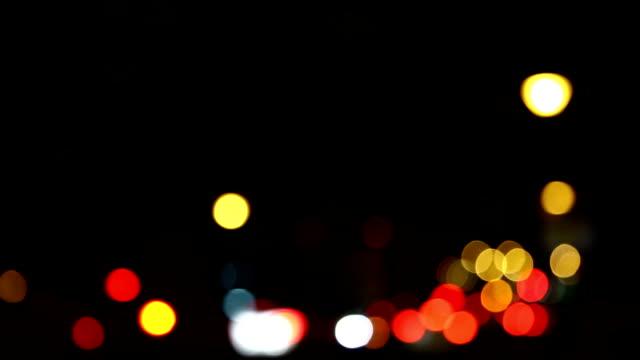 Out of focus traffic in Dubai, UAE