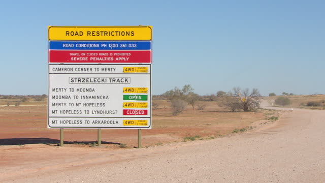 WS Outback road sign / Tibooburra, New South Wales, Australia