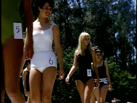 outdoor beauty contest in golden gate park, san francisco, california, usa - one piece swimsuit stock videos & royalty-free footage