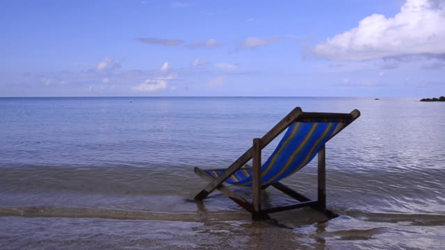 outdoor chair and tropical sea. - armchair stock videos & royalty-free footage