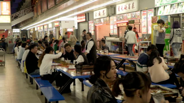 outdoor fast food restaurants in kunming china - fast food restaurant stock videos & royalty-free footage