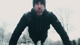 Outdoor fitness in winter